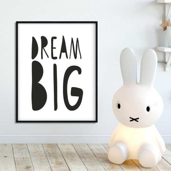 DREAM BIG - Plakat dla dzieci