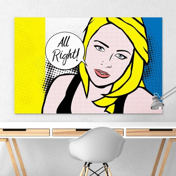 Designerski obraz na płótnie - All Right PopArt