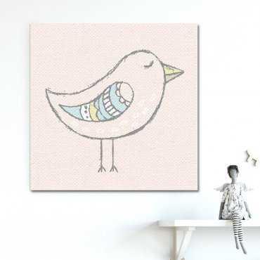 Modny obraz dziecięcy - CUTE BIRD