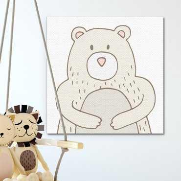 Modny obraz dziecięcy - Best Friend Bear