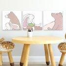 Zestaw obrazów dziecięcych - Forest Friends