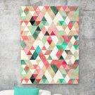 Modny obraz na płótnie - Pink-Mint Triangle