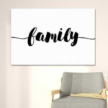Modny obraz na płótnie - Minimalist Family