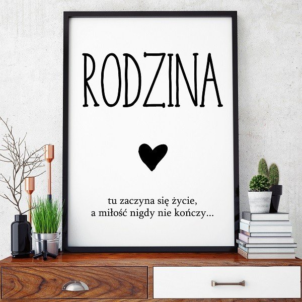 RODZINA - Plakat typograficzny