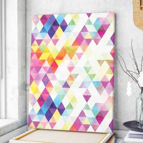 Modny obraz na płótnie - Colourful Triangle