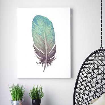 Modny obraz na płótnie - Feather Design