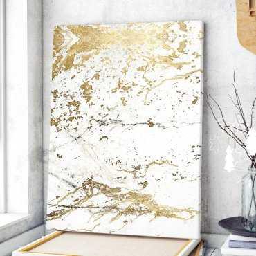 Modny obraz na płótnie - Golden Marble