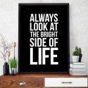 BRIGHT SIDE OF LIFE - Plakat typograficzny