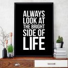 BRIGHT SIDE OF LIFE - Plakat typograficzny