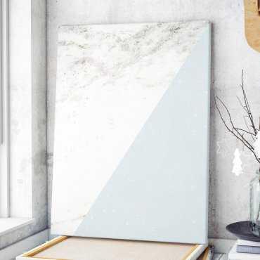 Modny obraz na płótnie - Minimalist Blue Marble