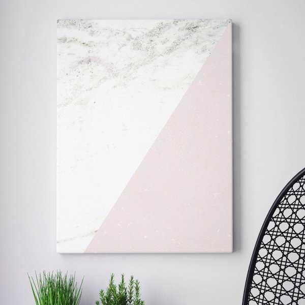 Modny obraz na płótnie - Minimalist Pink Marble