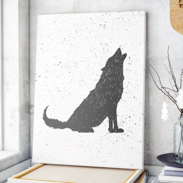 Modny obraz na płótnie - Scandi Wolf