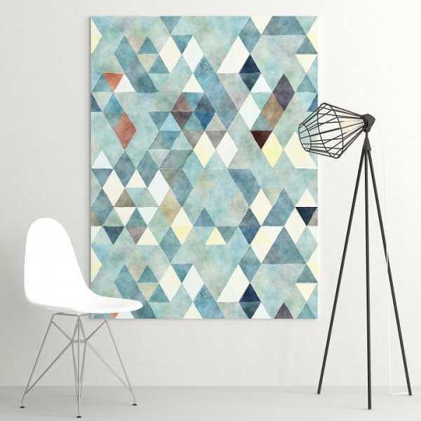 Modny obraz na płótnie - Triangular Art