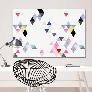 Modny obraz na płótnie - Triangular Design