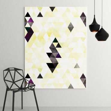 Modny obraz na płótnie - Yellow Triangle Design