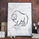 Plakat w ramie - Scandi Polar Bear