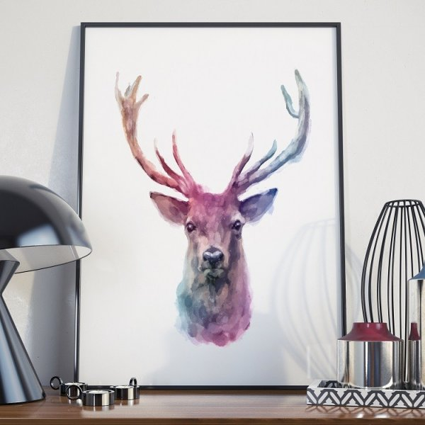 Plakat w ramie - Art Deer
