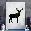 Plakat w ramie - Grunge Deer