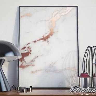 Plakat w ramie - Rose Gold Marble