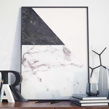 Plakat w ramie - Marble Art