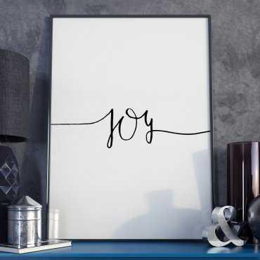 Plakat w ramie - Minimalist Joy
