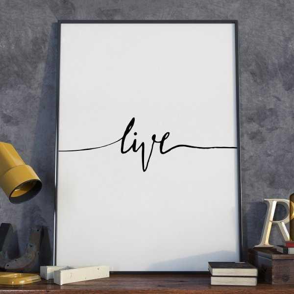 Plakat w ramie - Minimalist Live