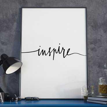 Plakat w ramie - Minimalist Inspire