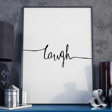 Plakat w ramie - Minimalist Laugh