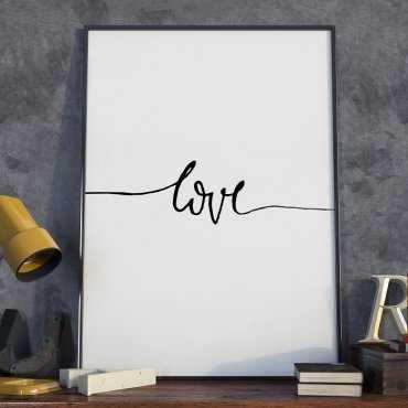 Plakat w ramie - Minimalist Love