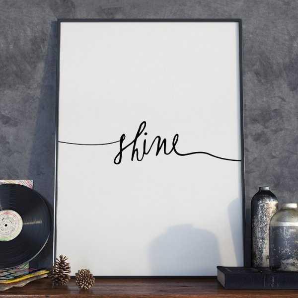 Plakat w ramie - Minimalist Shine