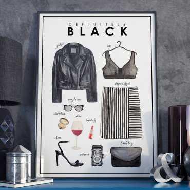 Plakat w ramie - Definitely Black
