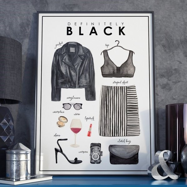 Plakat w ramie - Definitely Black