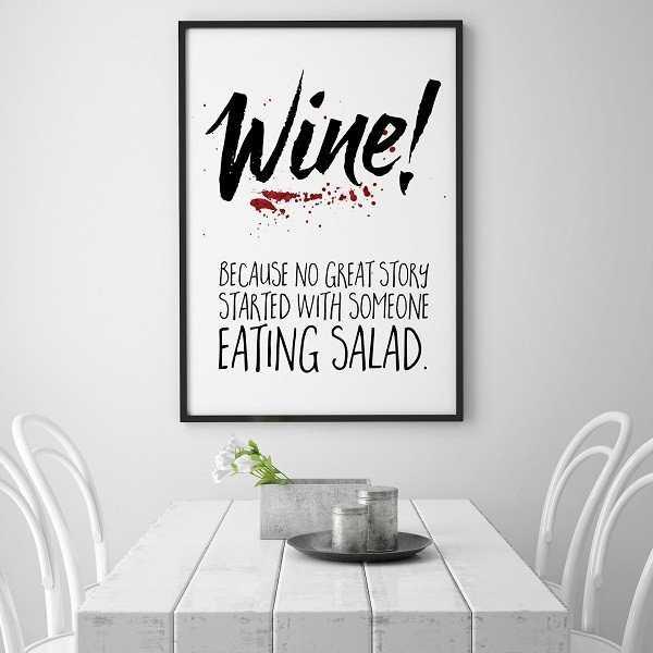 WINE! - Plakat typograficzny