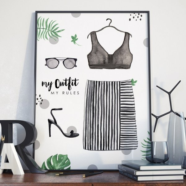 Plakat w ramie - My Outfit my Rules