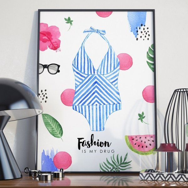 Plakat w ramie - Fashion is My Drug