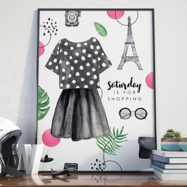 Plakat w ramie - Saturday is For Shopping