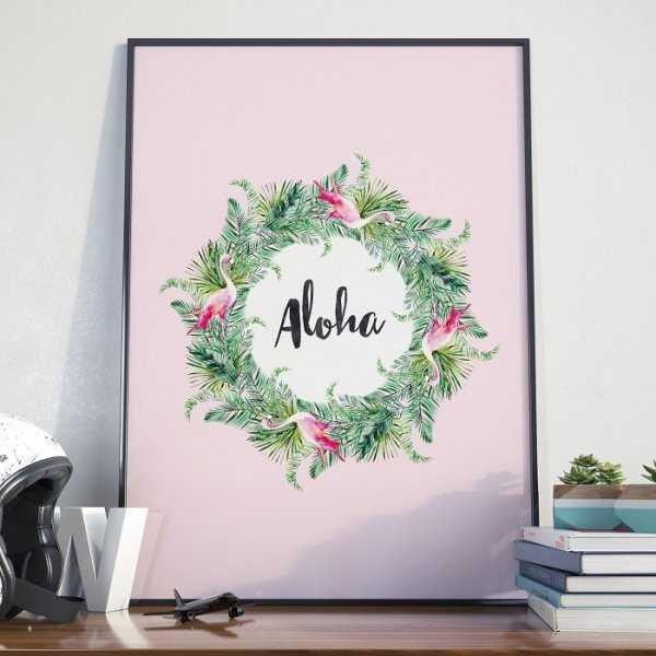 Plakat w ramie - Aloha