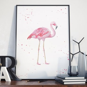 Plakat w ramie - Art Flamingo