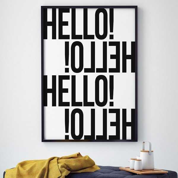 HELLO! - Plakat typograficzny