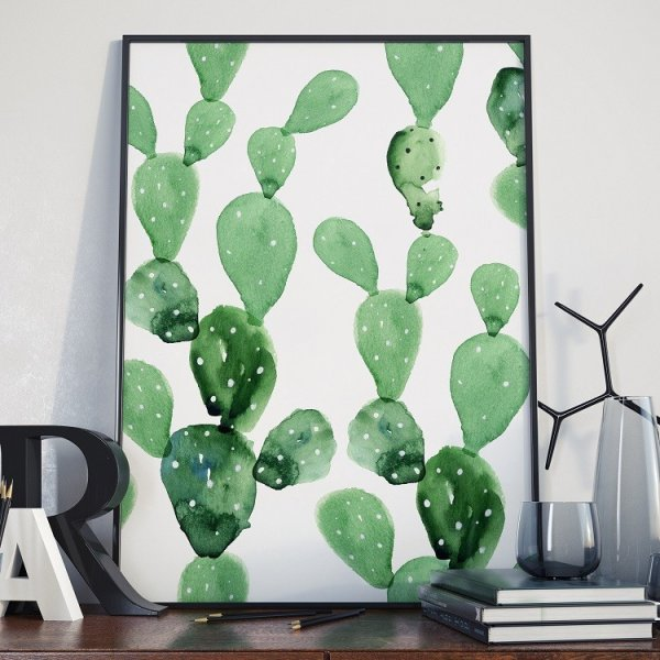 Plakat w ramie - Cactus Art