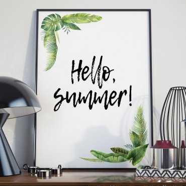 Plakat w ramie - Hello Summer