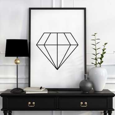 DIAMOND - Plakat designerski