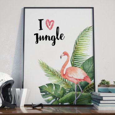 Plakat w ramie - I love Jungle