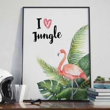 Plakat w ramie - I love Jungle