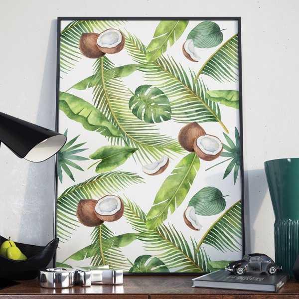 Plakat w ramie - Coconut Art