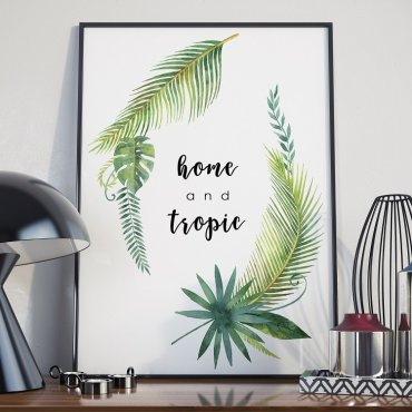 Plakat w ramie - Home and Tropic