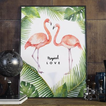 Plakat w ramie - Tropical Love