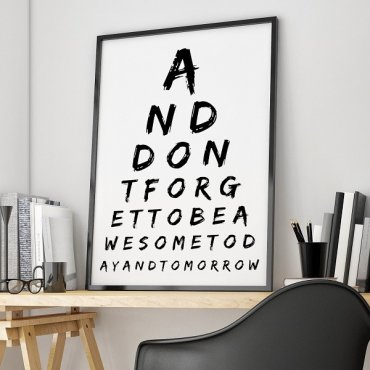 AND DON'T FORGET TO BE AWESOME - Plakat designerski
