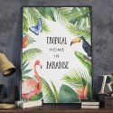 Plakat w ramie - Tropical Home in Paradise