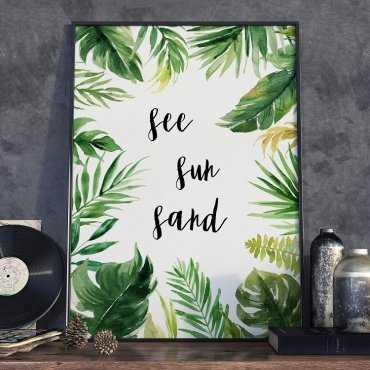 Plakat w ramie - See Sun Sand